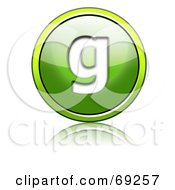 Royalty Free RF Clipart Illustration Of A Shiny 3d Green Button Lowercase G by chrisroll