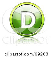 Royalty Free RF Clipart Illustration Of A Shiny 3d Green Button Capital D by chrisroll