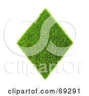 Grassy 3d Green Symbol Diamond