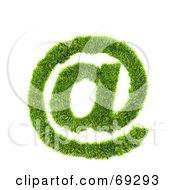 Grassy 3d Green Symbol Arobase