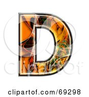 Royalty Free RF Clipart Illustration Of A Fiber Symbol Capital D by chrisroll