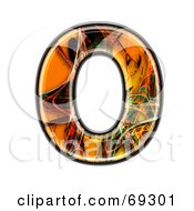 Royalty Free RF Clipart Illustration Of A Fiber Symbol Capital O