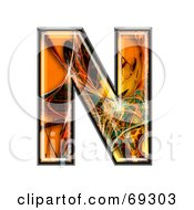 Royalty Free RF Clipart Illustration Of A Fiber Symbol Capital N by chrisroll