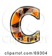 Royalty Free RF Clipart Illustration Of A Fiber Symbol Capital C by chrisroll