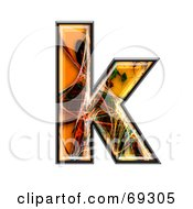 Royalty Free RF Clipart Illustration Of A Fiber Symbol Lowercase K