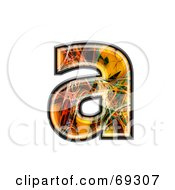 Royalty Free RF Clipart Illustration Of A Fiber Symbol Lowercase A by chrisroll