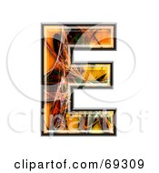 Royalty Free RF Clipart Illustration Of A Fiber Symbol Capital E by chrisroll