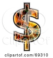 Royalty Free RF Clipart Illustration Of A Fiber Symbol Dollar by chrisroll