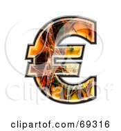 Royalty Free RF Clipart Illustration Of A Fiber Symbol Euro by chrisroll