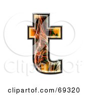 Royalty Free RF Clipart Illustration Of A Fiber Symbol Lowercase T by chrisroll