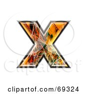 Royalty Free RF Clipart Illustration Of A Fiber Symbol Lowercase X by chrisroll
