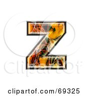 Royalty Free RF Clipart Illustration Of A Fiber Symbol Lowercase Z by chrisroll