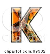 Royalty Free RF Clipart Illustration Of A Fiber Symbol Capital K