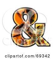 Royalty Free RF Clipart Illustration Of A Fiber Symbol Ampersand by chrisroll
