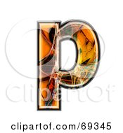 Royalty Free RF Clipart Illustration Of A Fiber Symbol Lowercase P