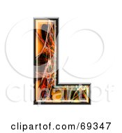 Royalty Free RF Clipart Illustration Of A Fiber Symbol Capital L