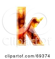 Royalty Free RF Clipart Illustration Of A Sparkly Symbol Lowercase K