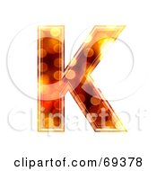 Royalty Free RF Clipart Illustration Of A Sparkly Symbol Capital K