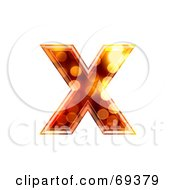 Royalty Free RF Clipart Illustration Of A Sparkly Symbol Lowercase X by chrisroll