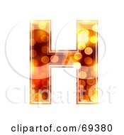 Royalty Free RF Clipart Illustration Of A Sparkly Symbol Capital H by chrisroll