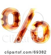 Royalty Free RF Clipart Illustration Of A Sparkly Symbol Percent by chrisroll