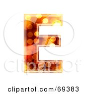 Royalty Free RF Clipart Illustration Of A Sparkly Symbol Capital E by chrisroll