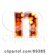 Royalty Free RF Clipart Illustration Of A Sparkly Symbol Lowercase N by chrisroll