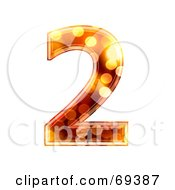 Royalty Free RF Clipart Illustration Of A Sparkly Symbol Number 2 by chrisroll