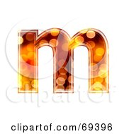 Royalty Free RF Clipart Illustration Of A Sparkly Symbol Lowercase M