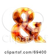 Royalty Free RF Clipart Illustration Of A Sparkly Symbol Ampersand by chrisroll