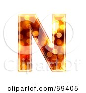 Royalty Free RF Clipart Illustration Of A Sparkly Symbol Capital N