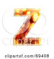 Royalty Free RF Clipart Illustration Of A Sparkly Symbol Capital Z