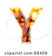 Royalty Free RF Clipart Illustration Of A Sparkly Symbol Capital Y