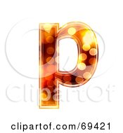 Royalty Free RF Clipart Illustration Of A Sparkly Symbol Lowercase P