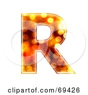 Royalty Free RF Clipart Illustration Of A Sparkly Symbol Capital R