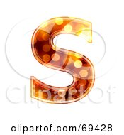 Royalty Free RF Clipart Illustration Of A Sparkly Symbol Capital S