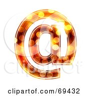 Royalty Free RF Clipart Illustration Of A Sparkly Symbol Arobase by chrisroll