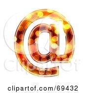 Sparkly Symbol Arobase