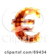 Royalty Free RF Clipart Illustration Of A Sparkly Symbol Euro by chrisroll
