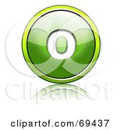 Royalty Free RF Clipart Illustration Of A Shiny 3d Green Button Lowercase O