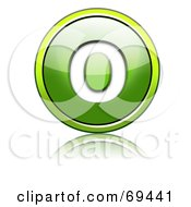 Royalty Free RF Clipart Illustration Of A Shiny 3d Green Button Capital O