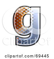 Royalty Free RF Clipart Illustration Of A Metal Symbol Lowercase G by chrisroll