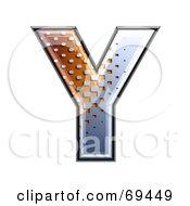 Royalty Free RF Clipart Illustration Of A Metal Symbol Capital Y by chrisroll