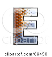 Royalty Free RF Clipart Illustration Of A Metal Symbol Capital E by chrisroll