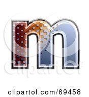 Royalty Free RF Clipart Illustration Of A Metal Symbol Lowercase M