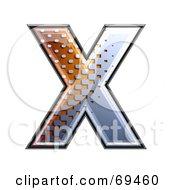 Royalty Free RF Clipart Illustration Of A Metal Symbol Capital X by chrisroll