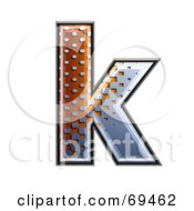 Royalty Free RF Clipart Illustration Of A Metal Symbol Lowercase K