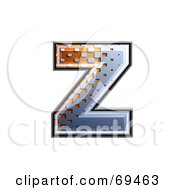 Royalty Free RF Clipart Illustration Of A Metal Symbol Lowercase Z by chrisroll