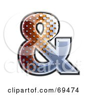 Royalty Free RF Clipart Illustration Of A Metal Symbol Ampersand by chrisroll