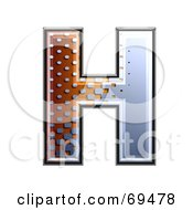Royalty Free RF Clipart Illustration Of A Metal Symbol Capital H